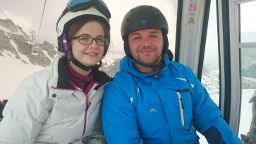 Millennial Natalie and Ady Skiing 2