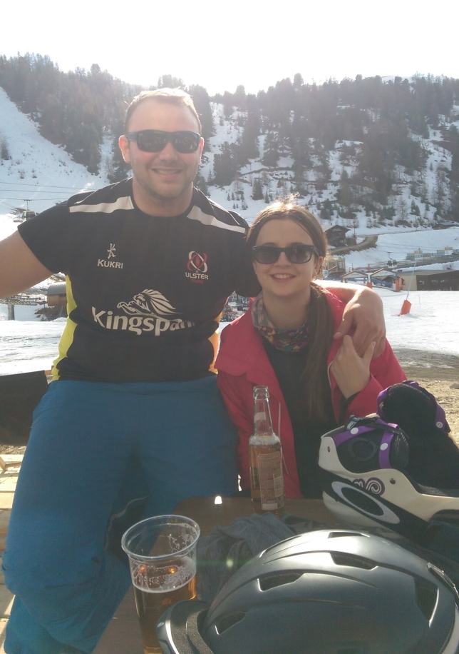 Millennial Natalie and Ady Skiing in La Plagne