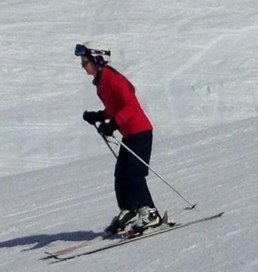 Millennial Natalie Skiing