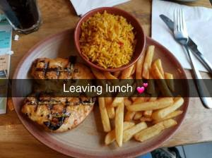 Leaving lunch