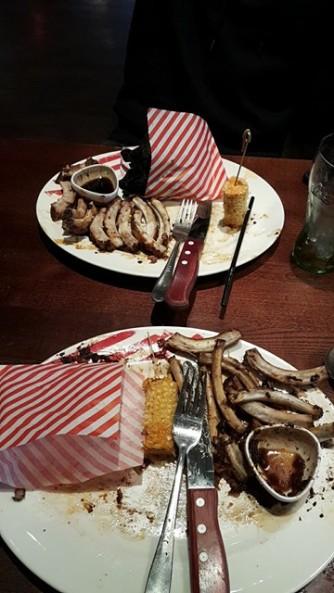 TGI Fridays Ribs - Eaten